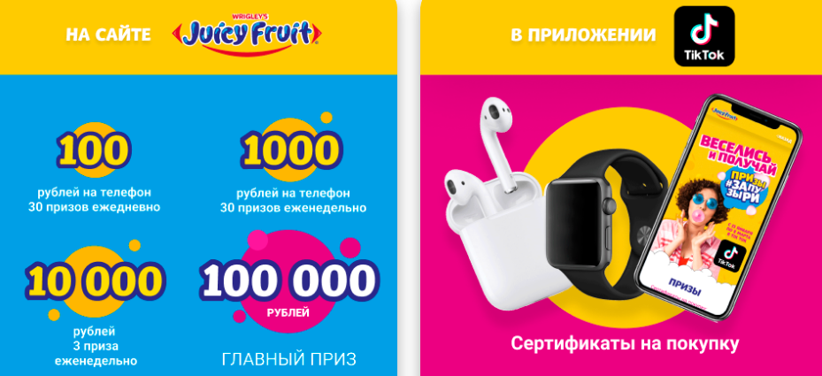 Акция Juicy Fruit