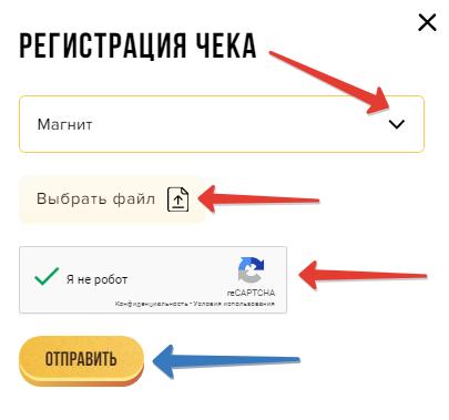 регистрация чека на ruchoco.ru/promo