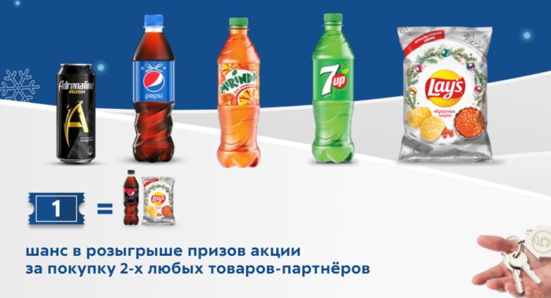 Товары-спонсоры Пятерочка