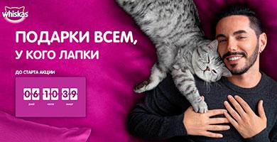 Промо акция Whiskas «День Кошек 2021»!