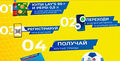 Промо акция Pepsi и Lays на АЗС Башнефть, Роснефть и ВР «Ворвись в игру вместе»!