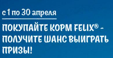 Промо акция Felix в Пятерочке и Перекрестке «Призы для вас и для вашего озорного котика!»